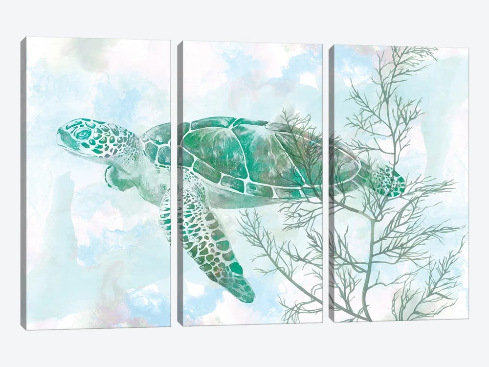 Watercolor Sea Turtle II by Studio W 3-piece Canvas Art