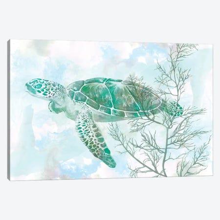 Watercolor Sea Turtle II 3-Piece Canvas #STW44} by Studio W Canvas Print
