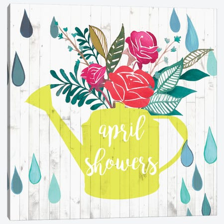 April Showers & May Flowers I Canvas Print #STW47} by Studio W Art Print