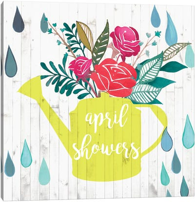 April Showers & May Flowers I Canvas Art Print
