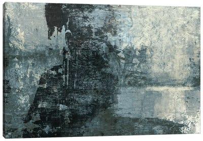 Black & Grey & Blue III Canvas Art Print