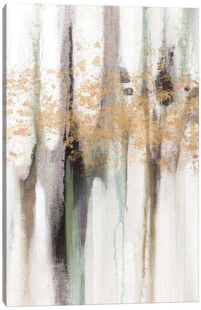 Falling Gold Leaf I Canvas Art Print