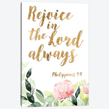 Grace Words Floral II 3-Piece Canvas #STW67} by Studio W Art Print