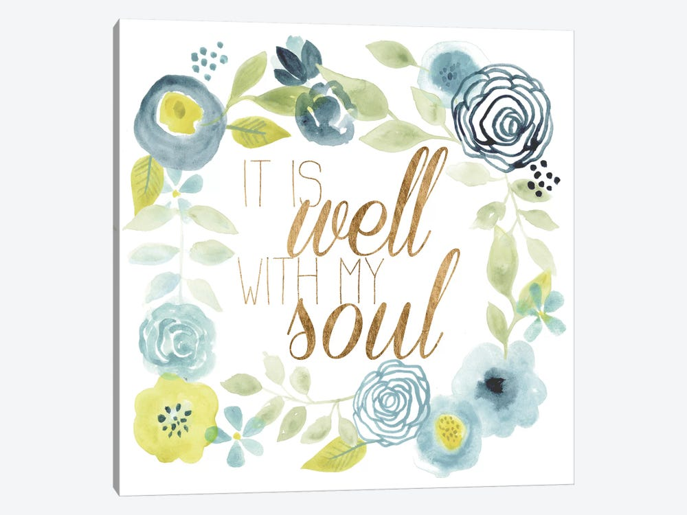 It Is Well II 1-piece Canvas Art Print