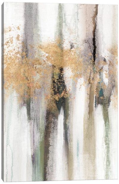 Falling Gold Leaf II Canvas Art Print