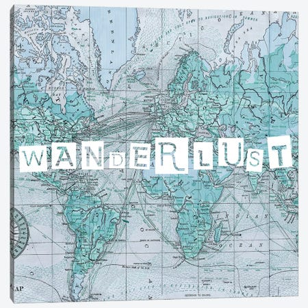 Map Words V 3-Piece Canvas #STW78} by Studio W Canvas Art Print