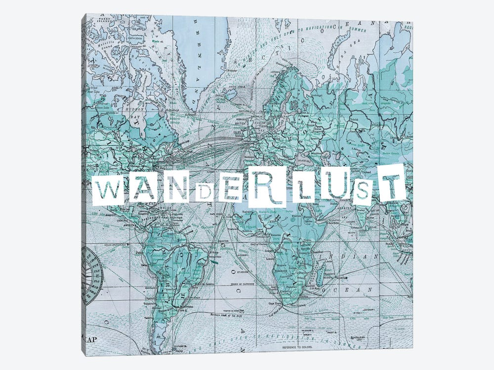 Map Words V by Studio W 1-piece Canvas Art Print