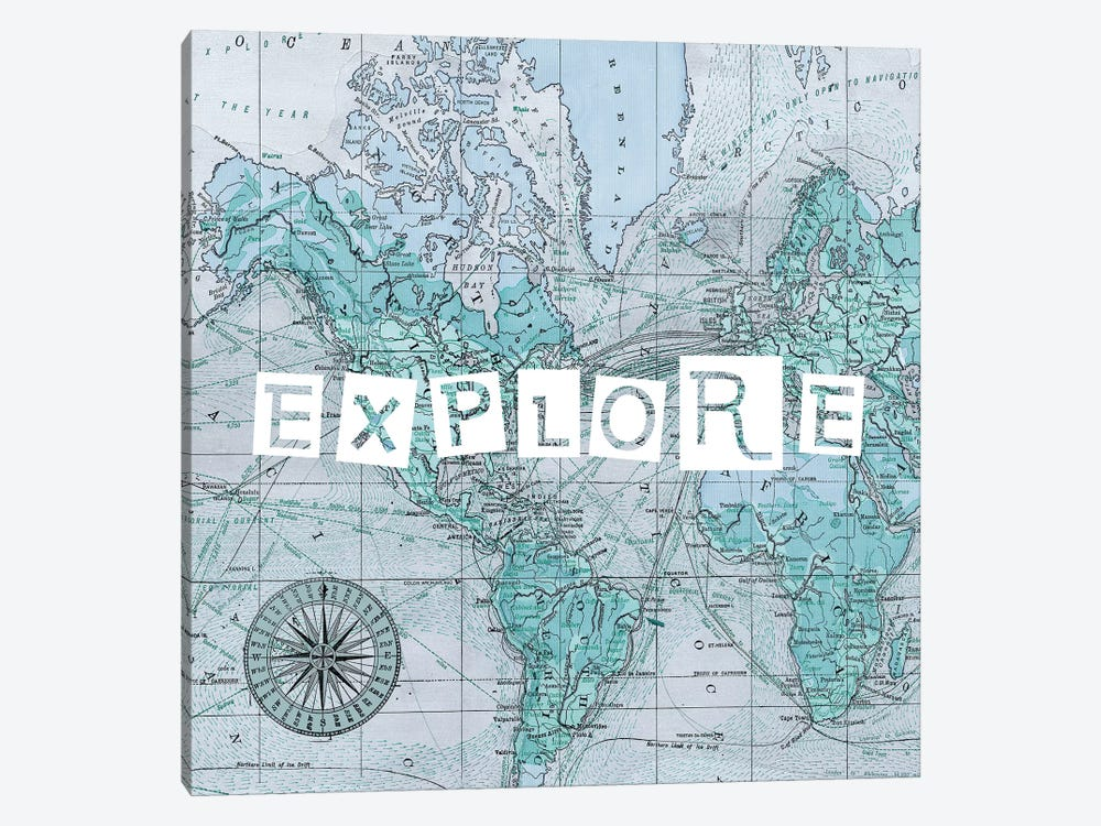 Map Words VI by Studio W 1-piece Canvas Art