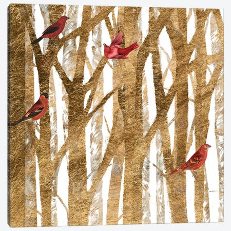 Red Bird Christmas I Canvas Print #STW98} by Studio W Canvas Art Print