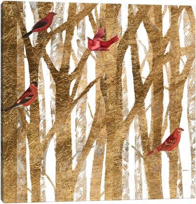 Red Bird Christmas I Canvas Art Print