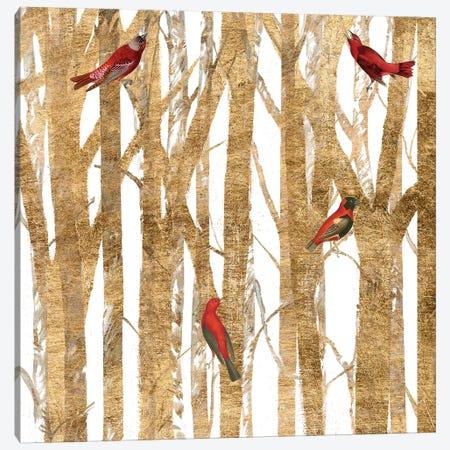 Red Bird Christmas II Canvas Print #STW99} by Studio W Canvas Print