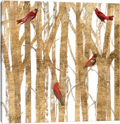 Red Bird Christmas II Canvas Art Print
