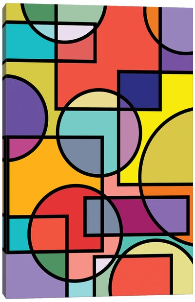 Abstract Circles Collection I Canvas Art Print