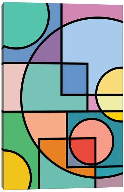 Abstract Circles Collection II Canvas Art Print