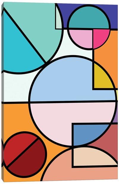 Abstract Circles Collection IV Canvas Art Print