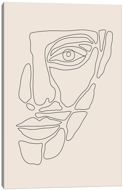Abstract Face Lines I Canvas Art Print