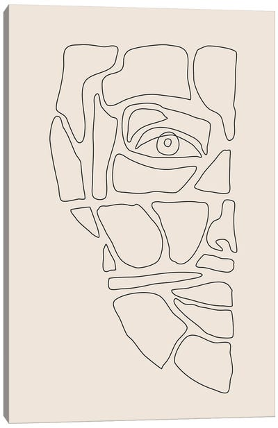 Abstract Face Lines III Canvas Art Print