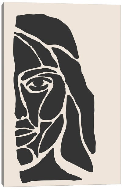 Abstract Face Series I Canvas Art Print