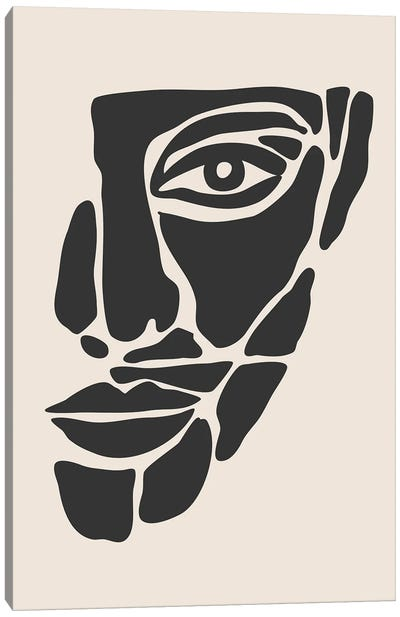 Abstract Face Series II Canvas Art Print