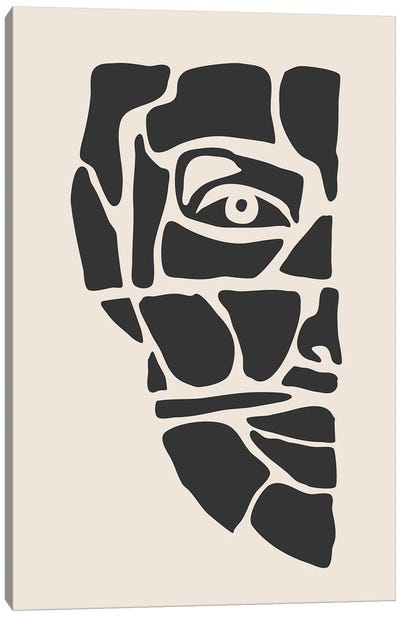 Abstract Face Series III Canvas Art Print