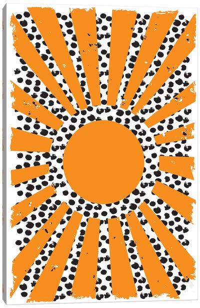 70's Inspired Sun Canvas Art Print