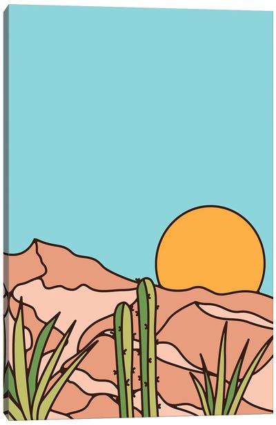 Minimal Desert sunset Canvas Art Print
