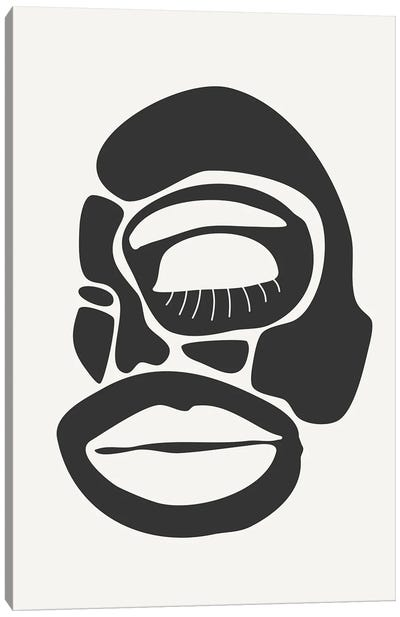Abstract Faces Series II Canvas Art Print
