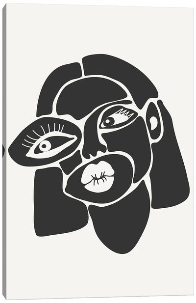 Abstract Faces Series III Canvas Art Print