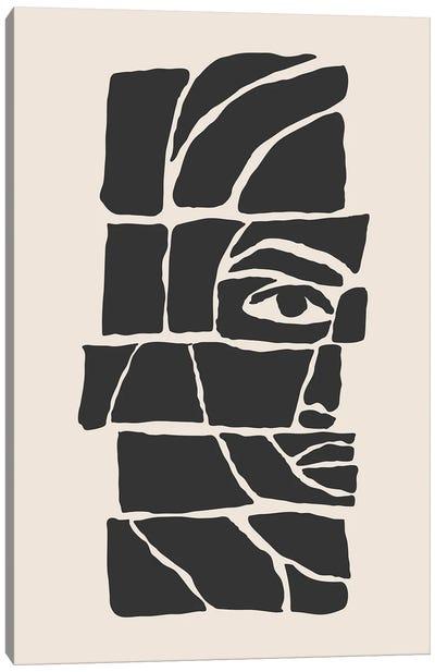 Abstract Faces Set III Canvas Art Print