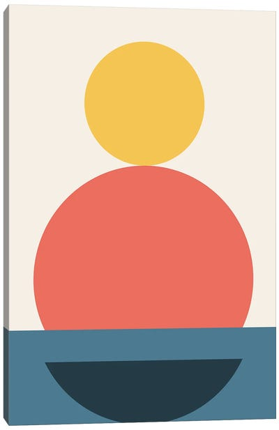 Abstract Geometric Fun III Canvas Art Print