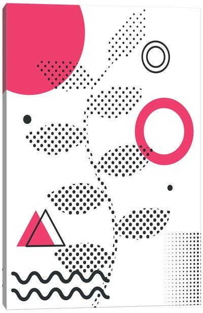 Abstract Halftone Shapes I Canvas Art Print