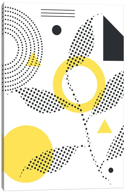 Abstract Halftone Shapes II Canvas Art Print