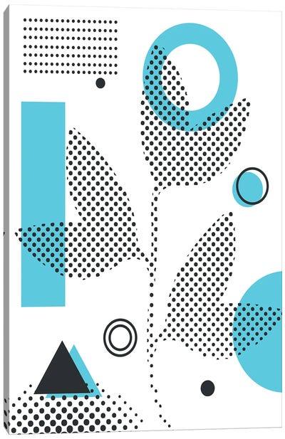 Abstract Halftone Shapes III Canvas Art Print