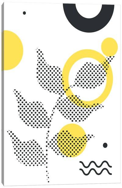 Abstract Halftone Shapes IV Canvas Art Print
