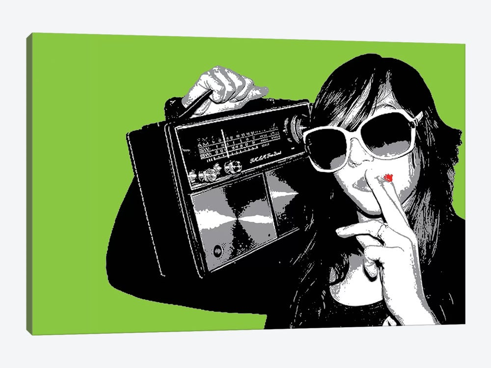 Boombox Joint Green by Steez 1-piece Art Print
