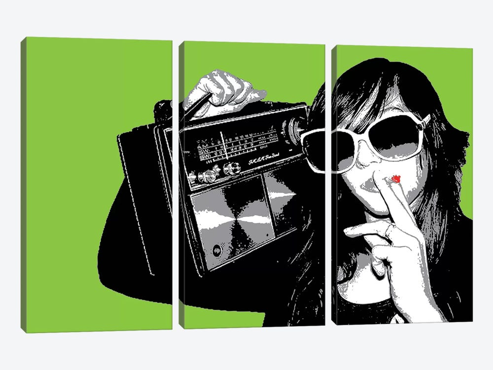 Boombox Joint Green by Steez 3-piece Canvas Art Print