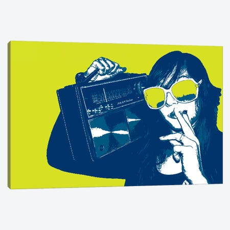 Boombox Joint Yellow Canvas Print #STZ14} by Steez Canvas Print