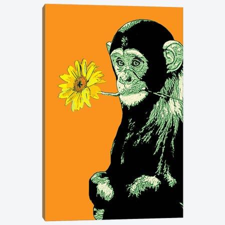 Flower Monkey Canvas Print #STZ31} by Steez Canvas Art