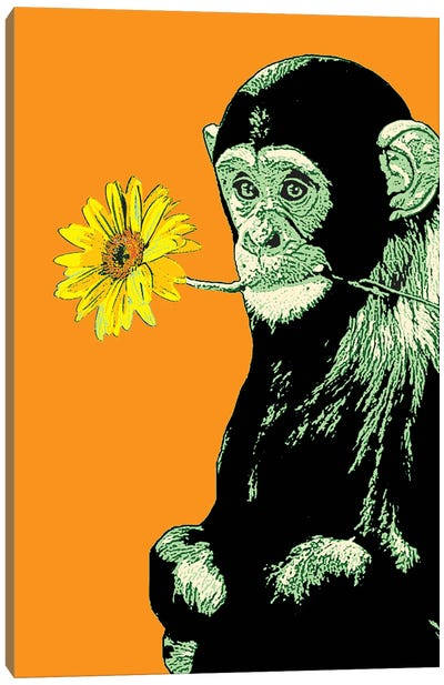 Flower Monkey Canvas Art Print
