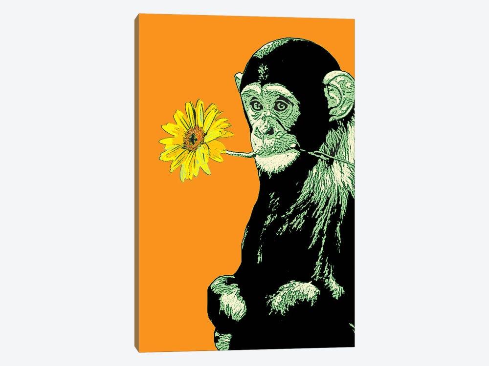 Flower Monkey by Steez 1-piece Canvas Art Print