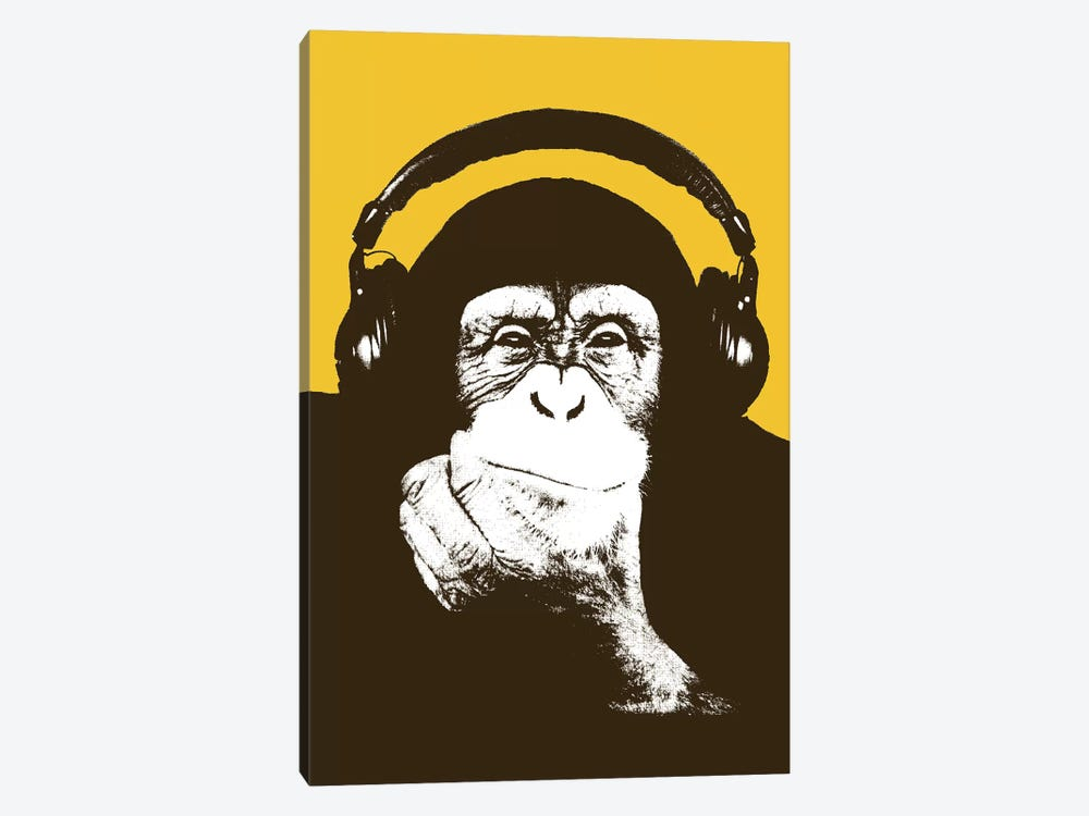 Headphone Monkey by Steez 1-piece Canvas Art