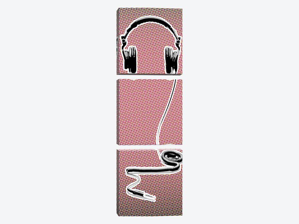 Headphones by Steez 3-piece Canvas Art Print