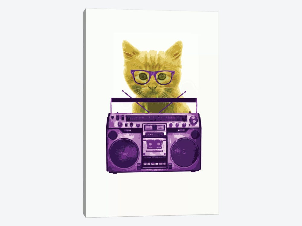Hipster Kitty by Steez 1-piece Canvas Artwork