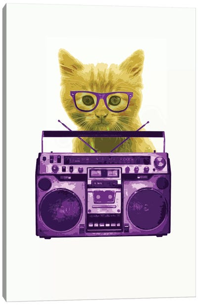 Hipster Kitty Canvas Art Print