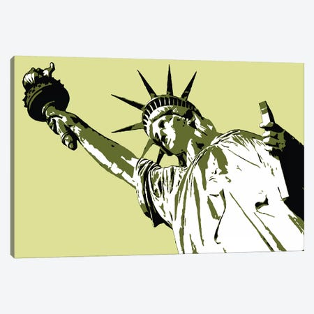Lady Liberty Canvas Print #STZ37} by Steez Canvas Print