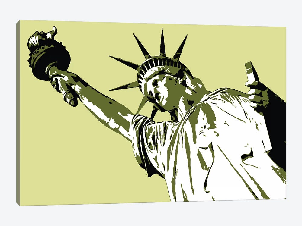 Lady Liberty by Steez 1-piece Canvas Art Print