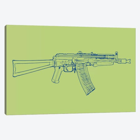 AK-47 Canvas Print #STZ3} by Steez Canvas Art Print