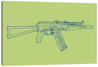 AK-47 Canvas Art Print