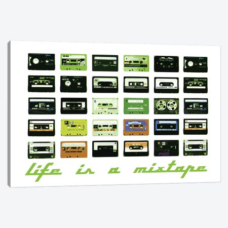 Mixtape Canvas Print #STZ42} by Steez Canvas Art Print