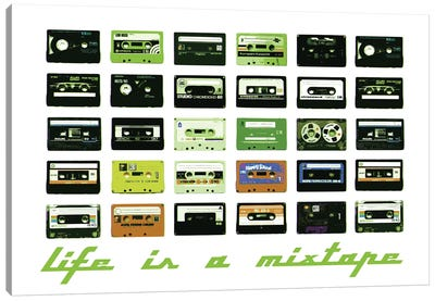 Mixtape Canvas Art Print